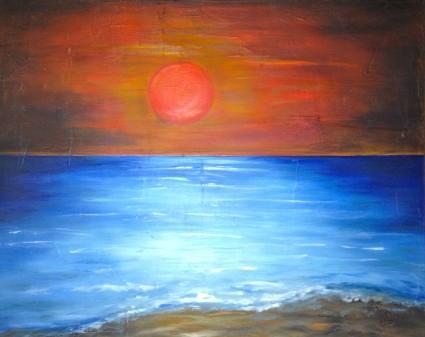 Sonnenuntergang in Hourtin